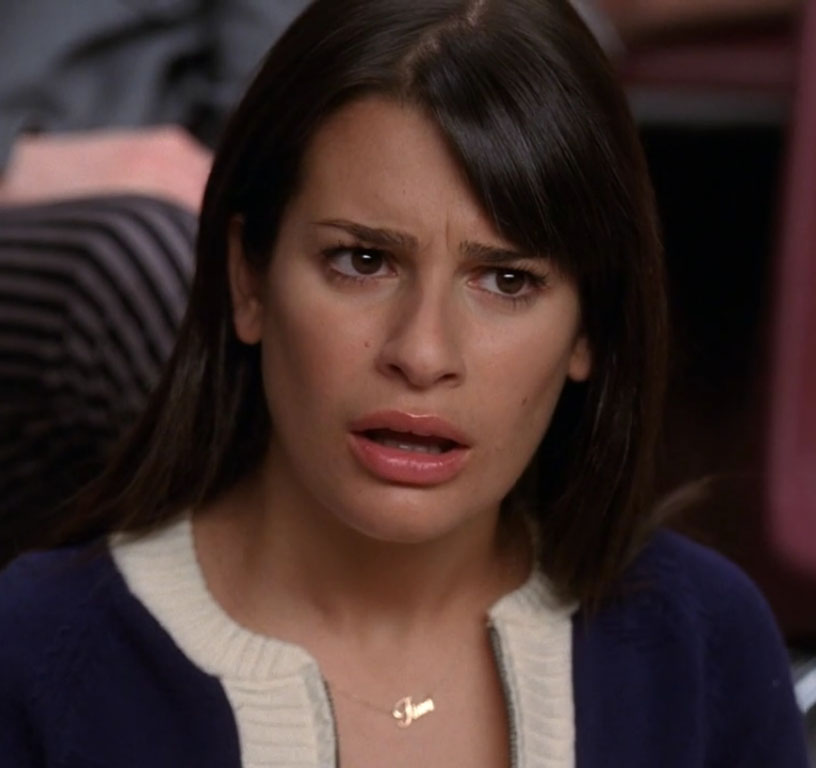She looks just as shocked as she did when she realized Brittana the ...
